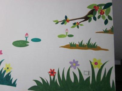手绘墙渐渐受到了正在装修新家的人们的热捧