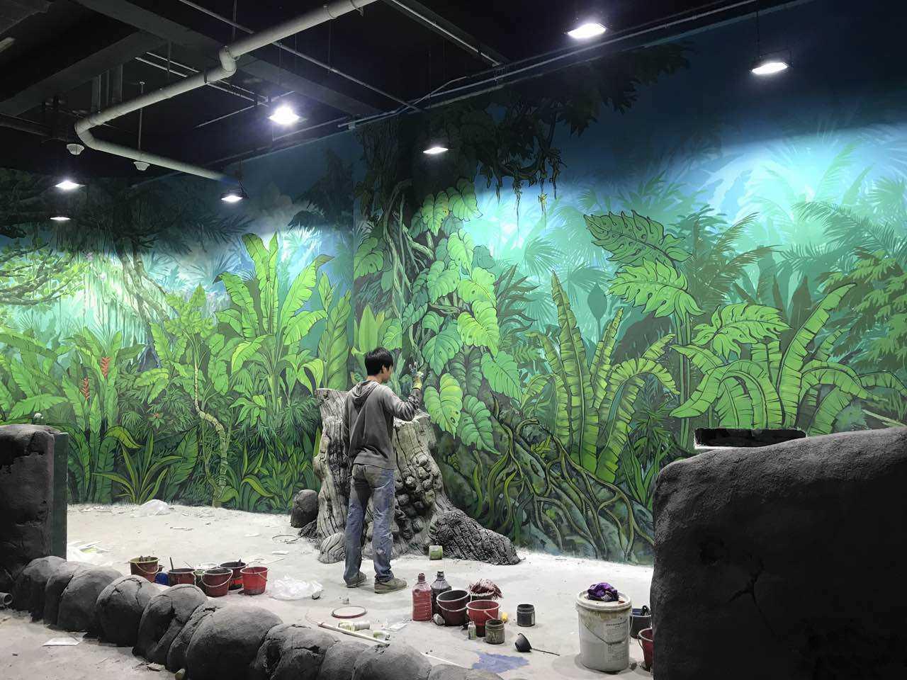 手绘墙是一种最有趣的方式来给厨房一种新的风格